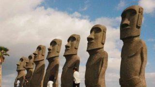 水曜どうでしょうロケ地巡礼 絵葉書の旅 宮崎 サンメッセ日南 モアイ