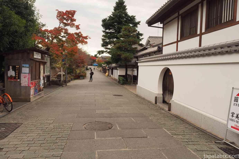 京都 紅葉 早朝の東山 ねねの道