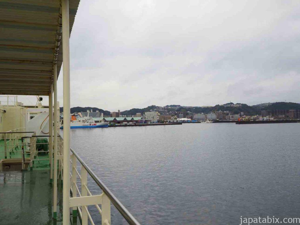 フェリーみしま鹿児島港入港