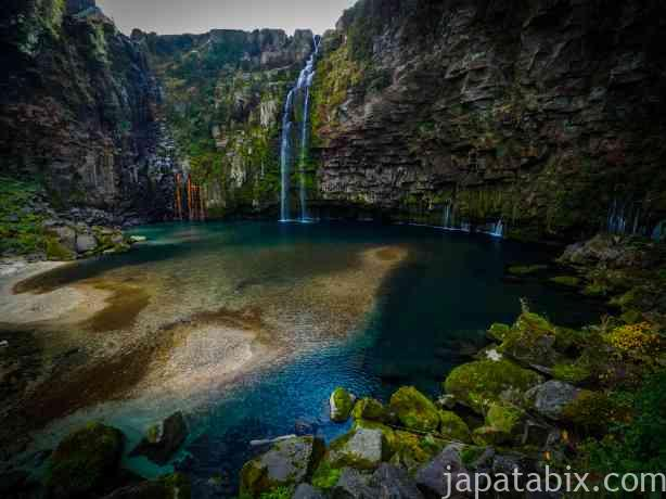 鹿児島 雄川の滝 展望所から見たところ