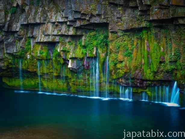 鹿児島 雄川の滝を望遠レンズで撮影