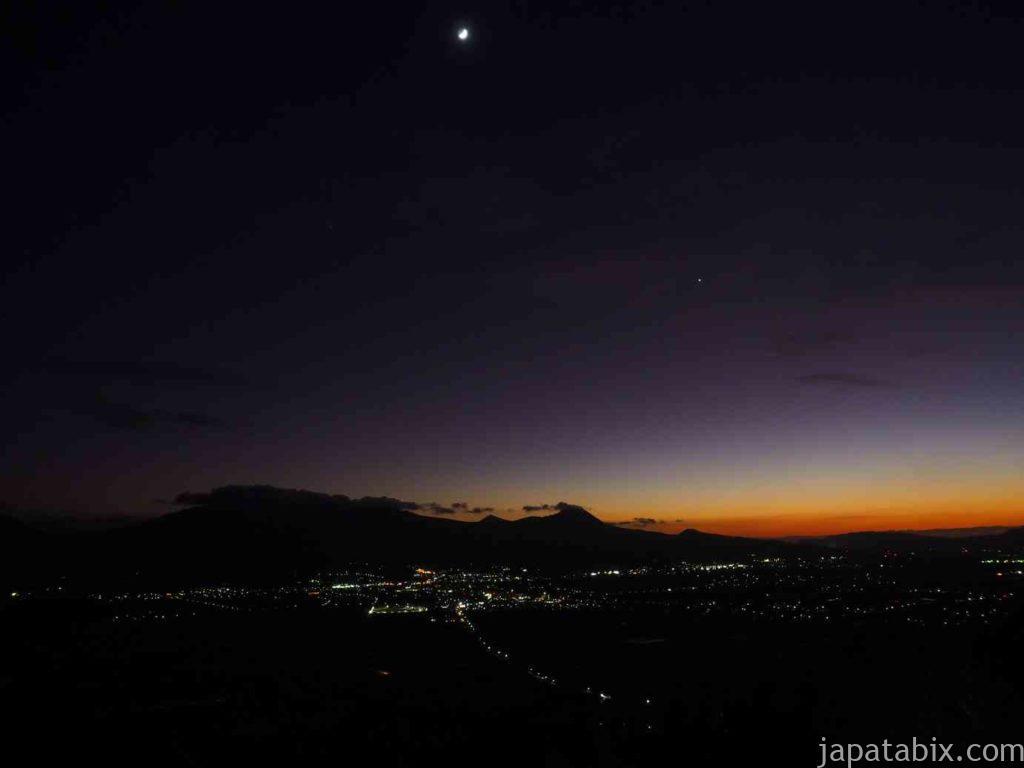 熊本 城山展望台のマジックアワー