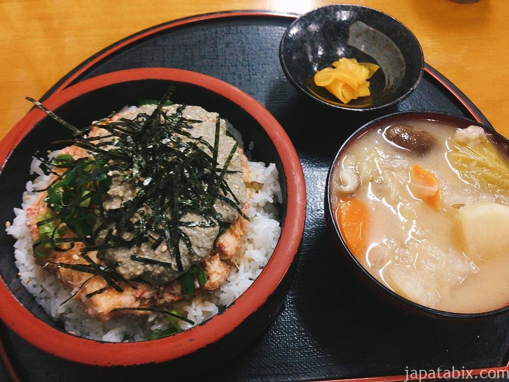 鳥取 おはよう堂 カニトロ丼