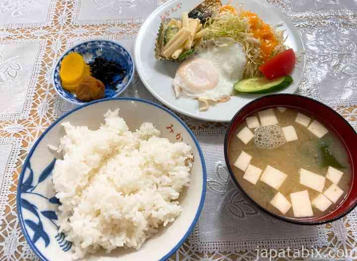 長崎 奈留島 みかんや食堂 朝食定食