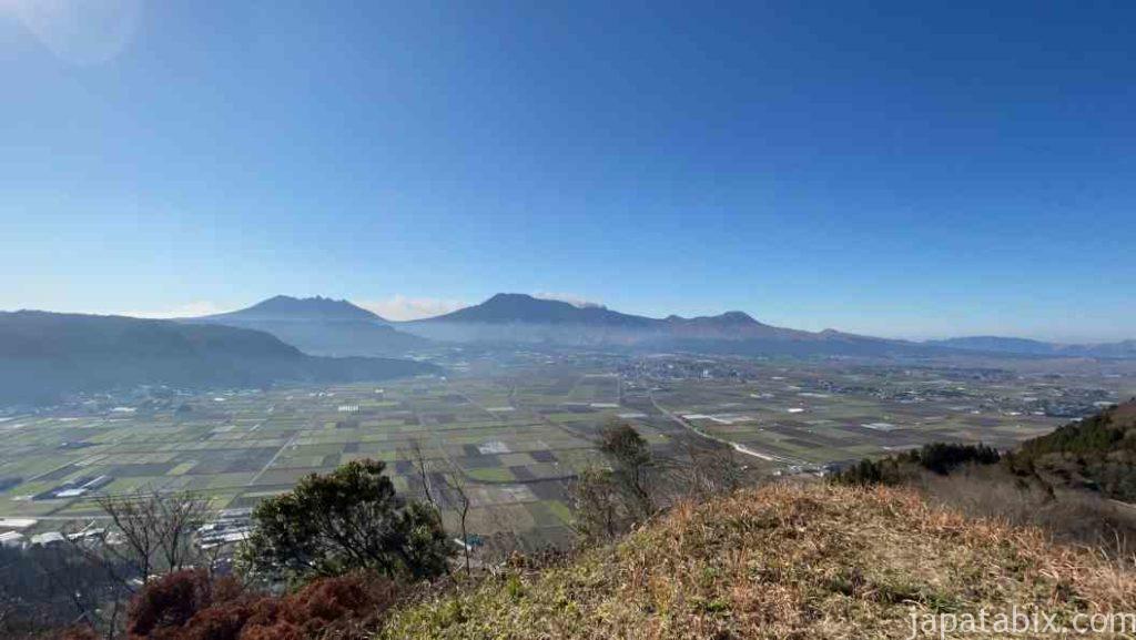 熊本 城山展望台の朝の景色