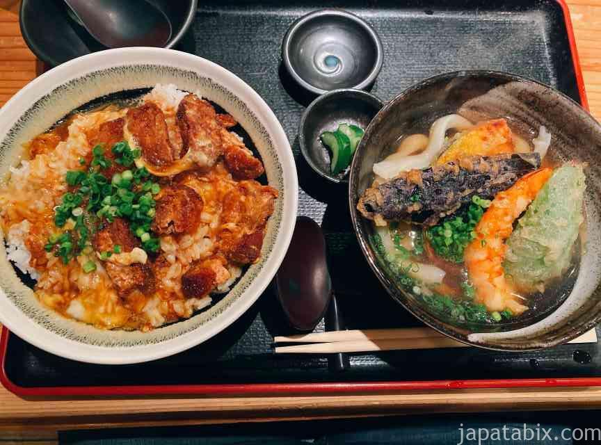 大分 別府 うどんひだか 天ぷらうどんとかつ丼