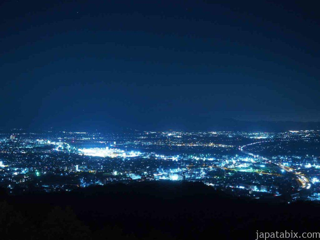 福岡 高良大社から見る久留米の夜景