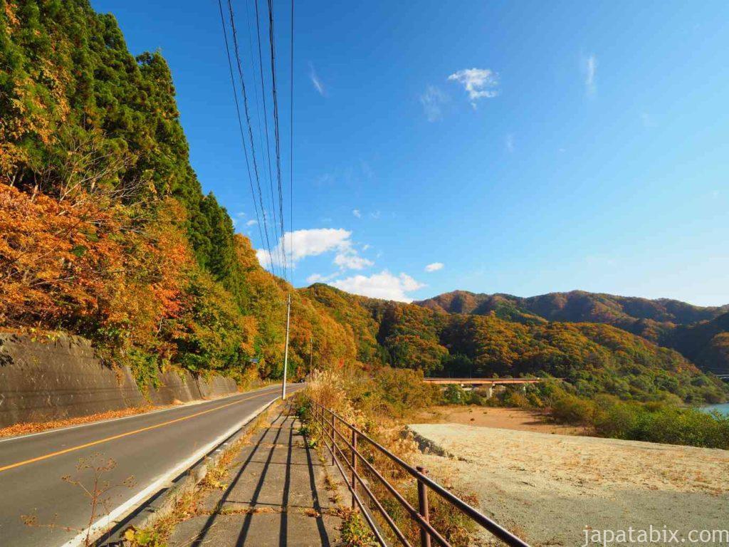 川俣ダムへ向かう道中