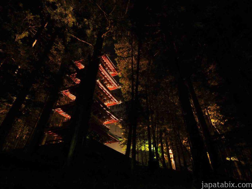 日光東照宮 五重塔ライトアップ