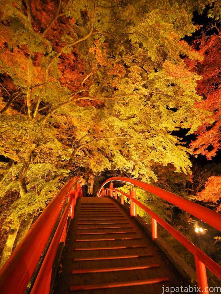 伊香保温泉 河童橋 紅葉ライトアップ
