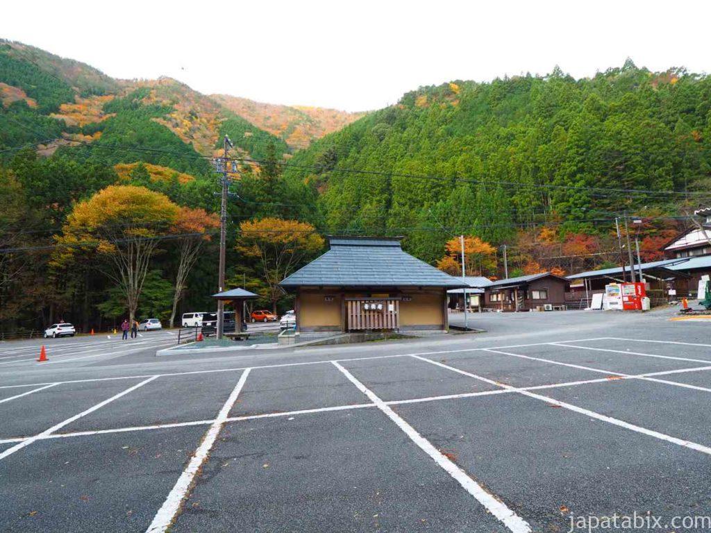 静岡県 寸又峡駐車場