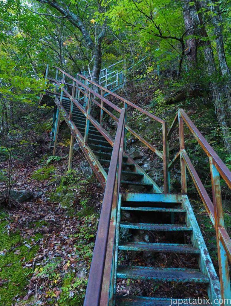 静岡県 寸又峡 夢の吊橋の遊歩道