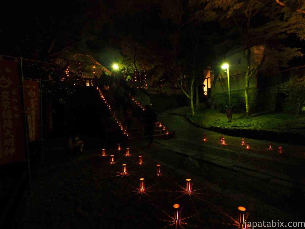 香嵐渓の紅葉 香積寺ライトアップ