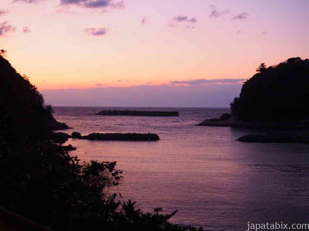 島根 温泉津温泉の夕暮れ