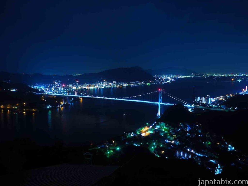 山口 火の山公園から見る夜の関門橋