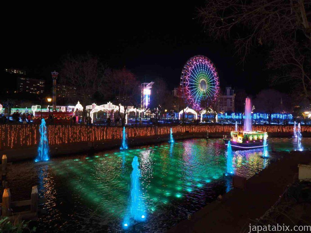 長崎 ハウステンボス イルミネーション 光と噴水の運河