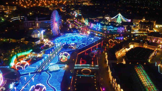 長崎 ハウステンボス イルミネーション 光の王国 ドムトールンからの眺め