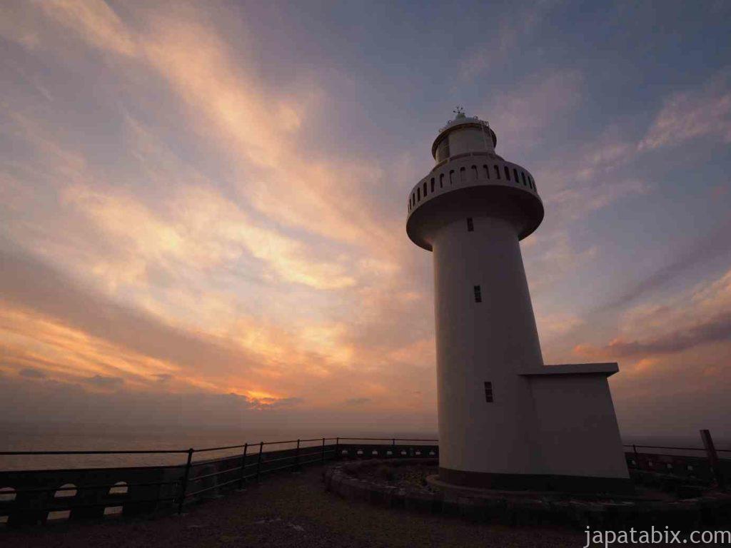 五島列島 福江島 大瀬崎灯台の夕焼け