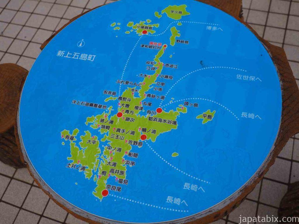 長崎 上五島町の地図