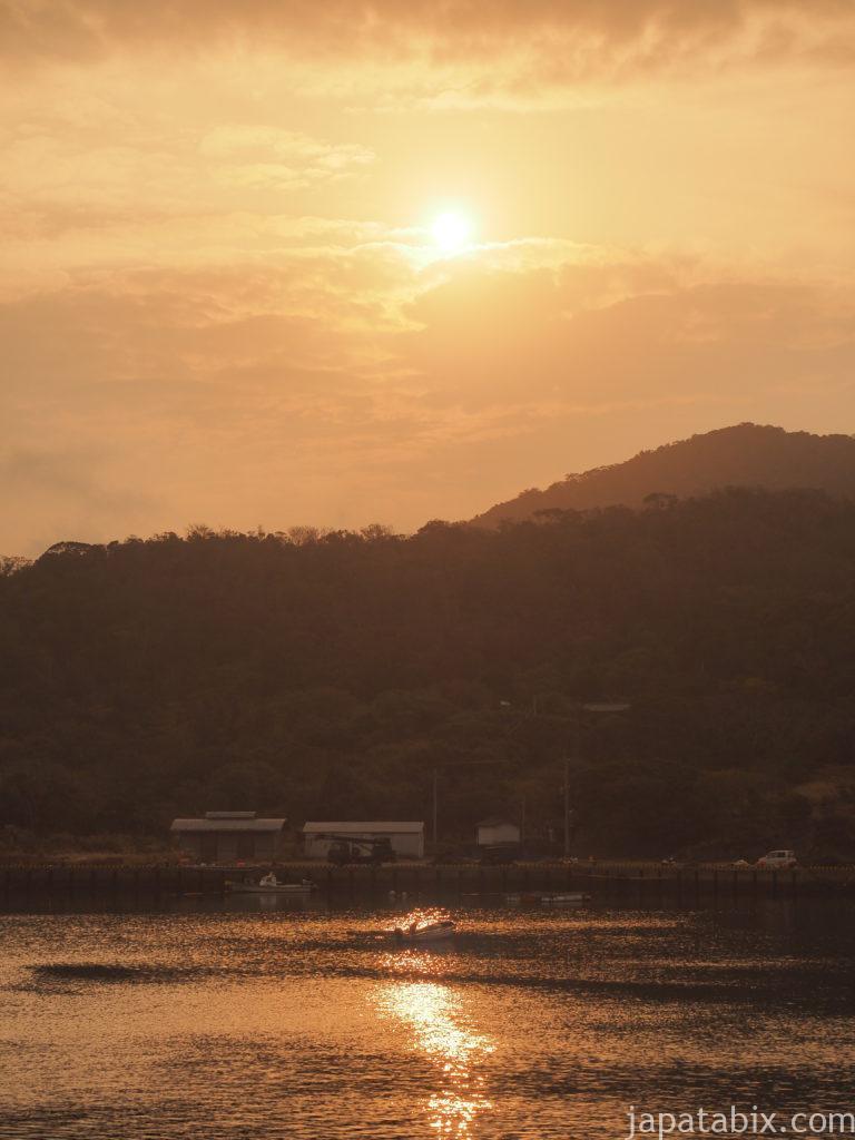 長崎 上五島町 日島で見た夕陽