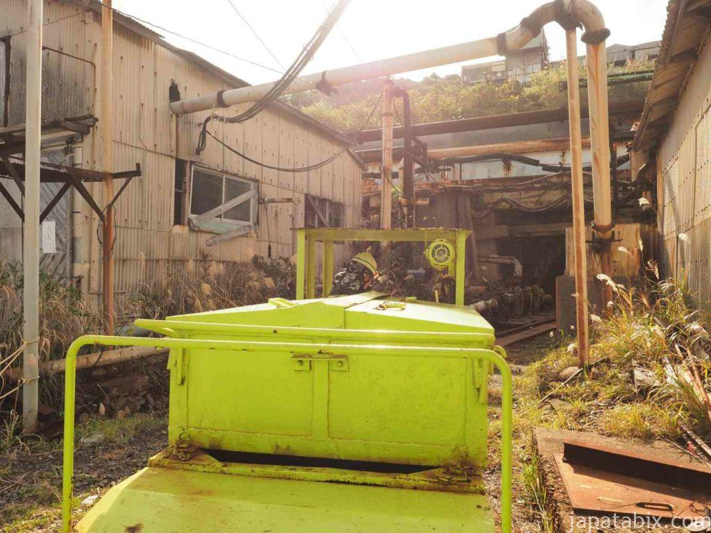 池島炭鉱坑内体験ツアー トロッコ列車