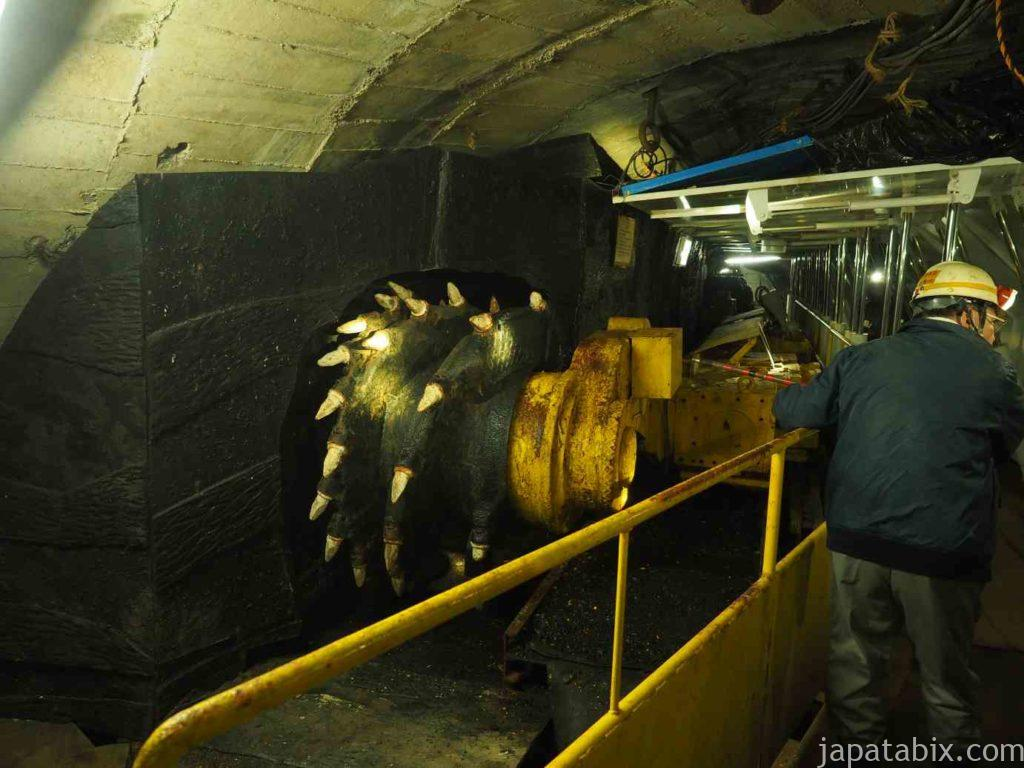 池島炭鉱坑内体験ツアー 掘削機