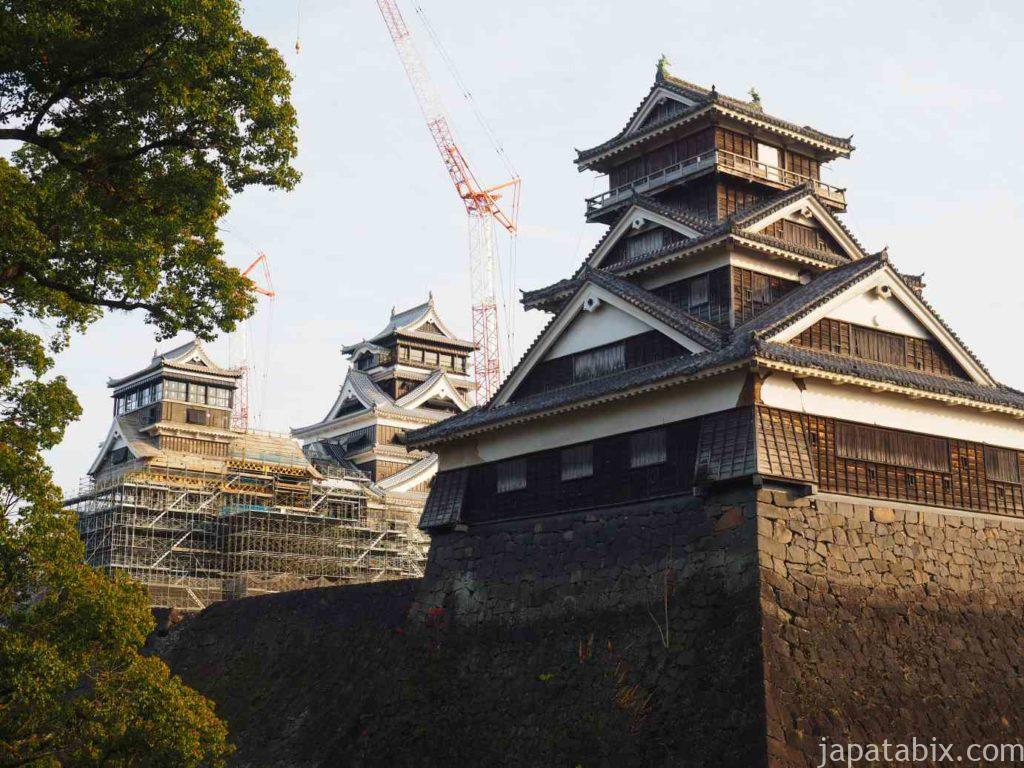 熊本 加藤神社から見る熊本城