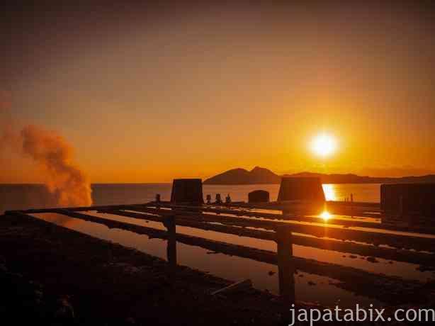 山川製塩工場跡から見る夕陽