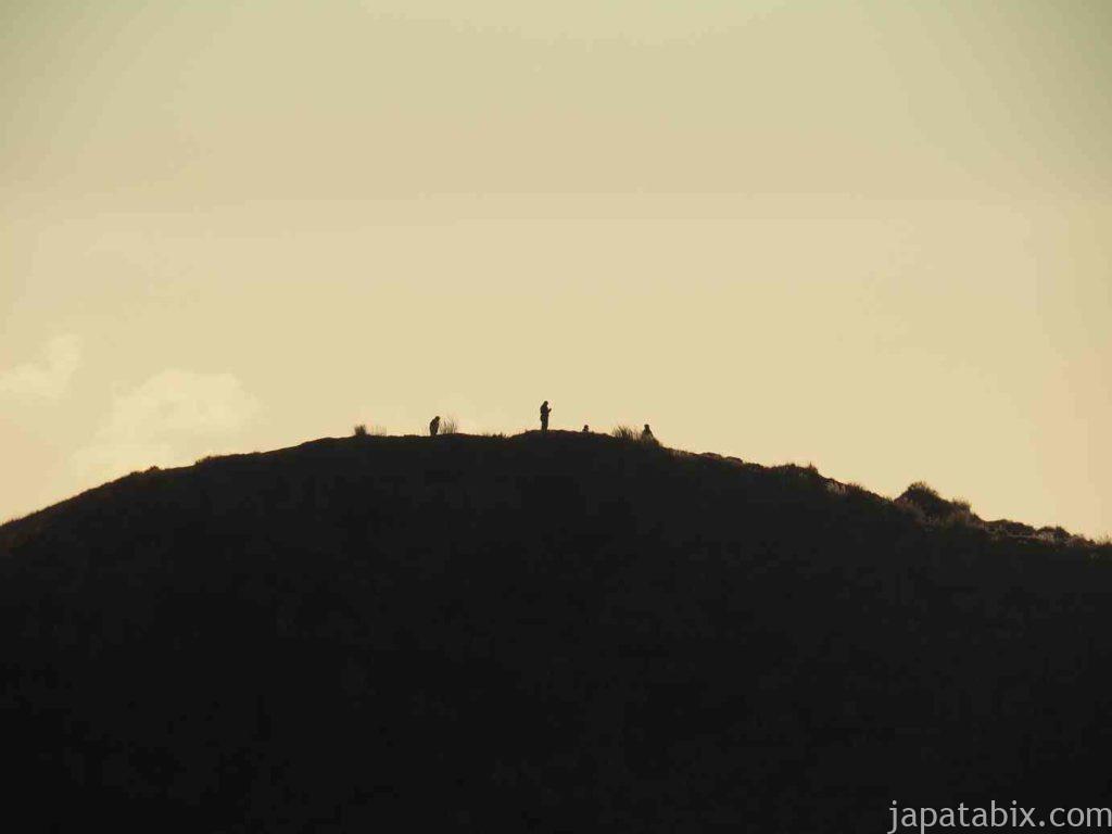 熊本 草千里ヶ浜の夕暮れ