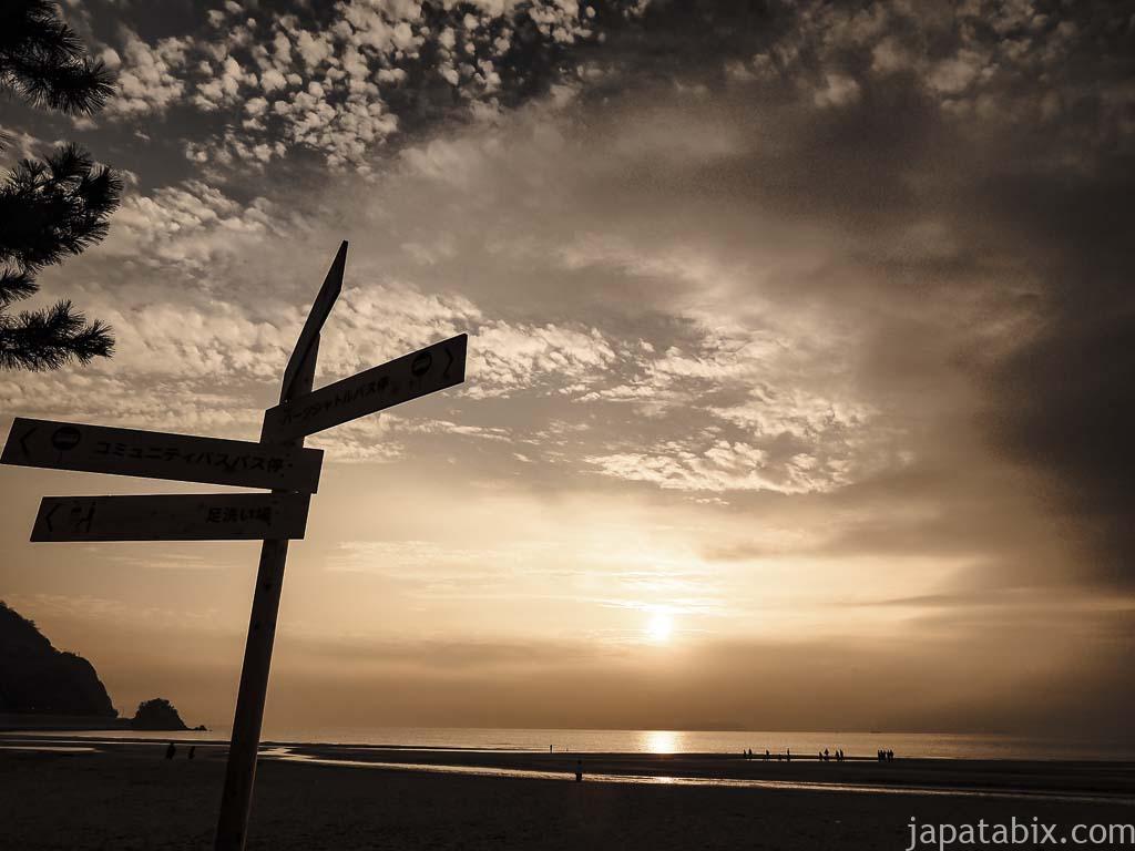 香川 父母ヶ浜の夕暮れ