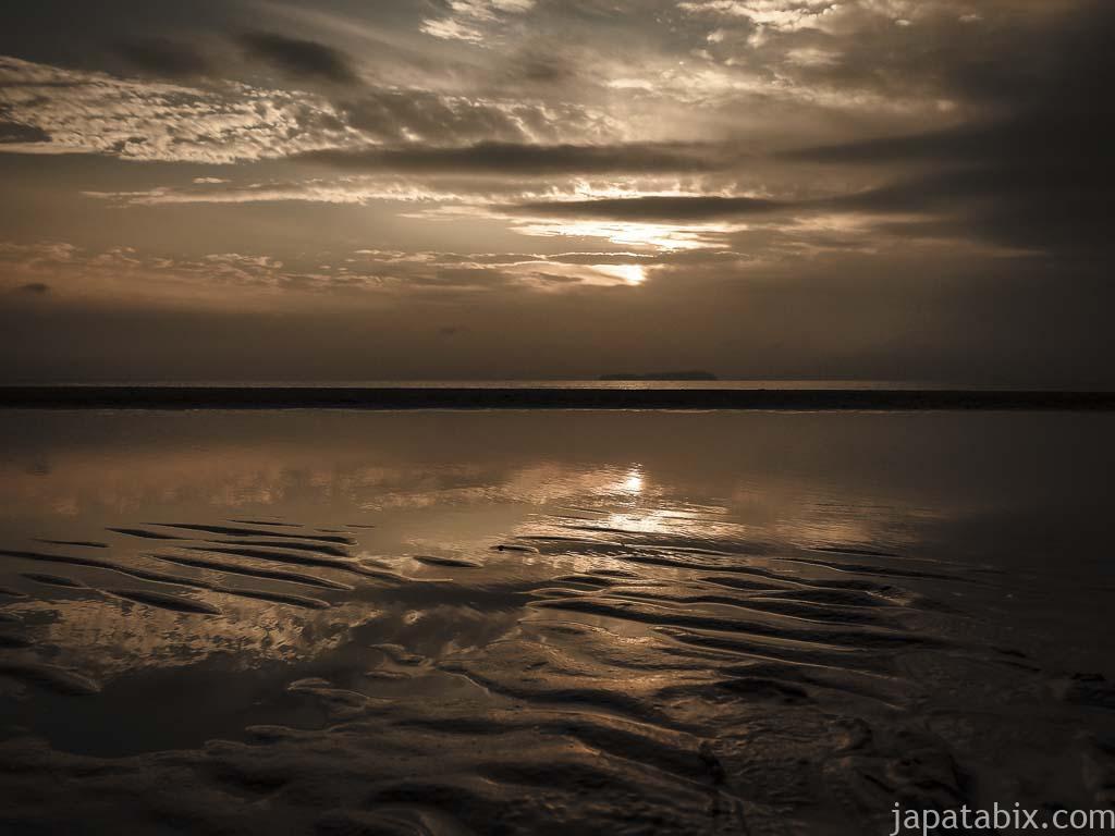 香川 父母ヶ浜の夕陽