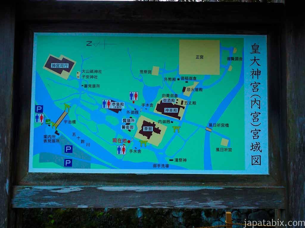 伊勢神宮 内宮 境内マップ