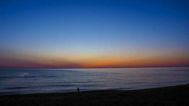石狩 毘砂別の夕暮れ