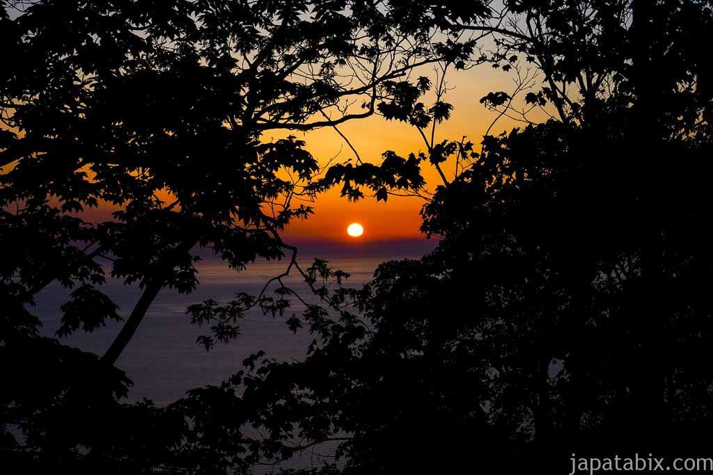 石狩市 千本ナラ から見た夕陽