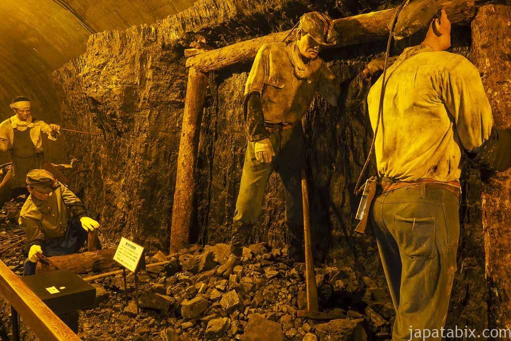 夕張市石炭博物館 炭鉱稼働当時の様子