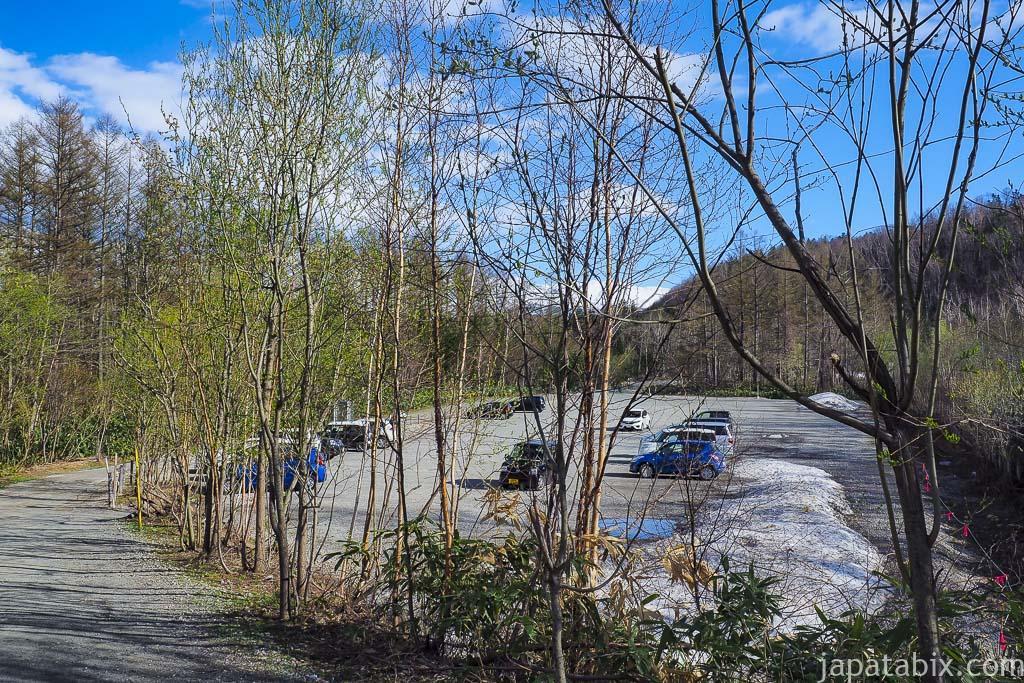 北海道 美瑛町 青い池 駐車場