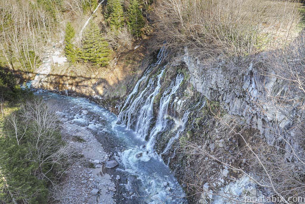 北海道 美瑛町 白ひげの滝