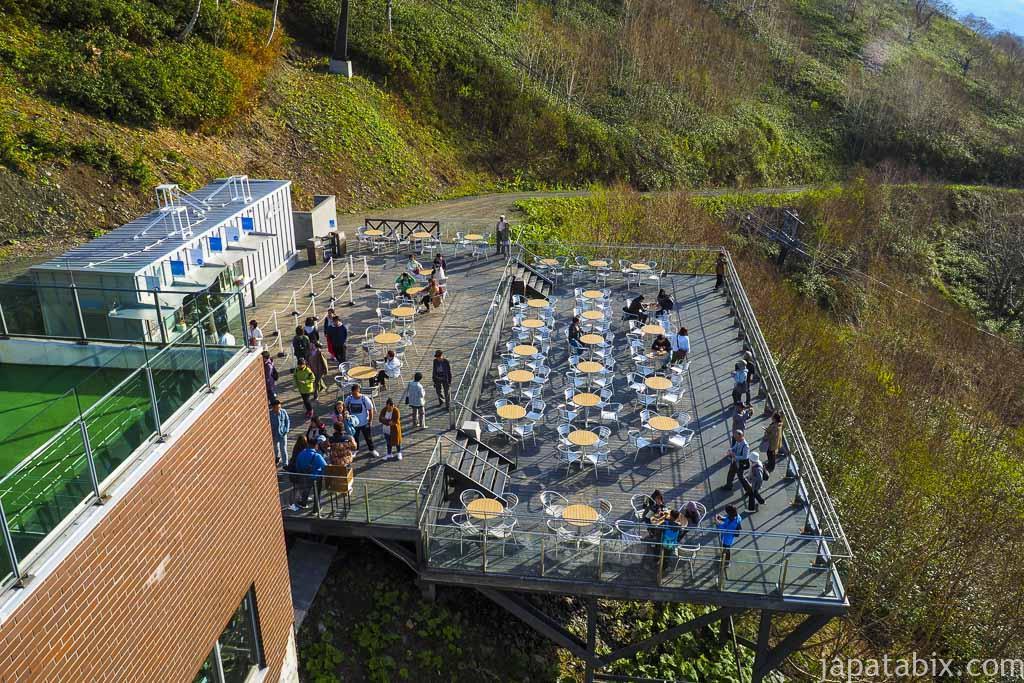 星野リゾートトマム 雲海ゴンドラ山頂駅 灯台デッキ