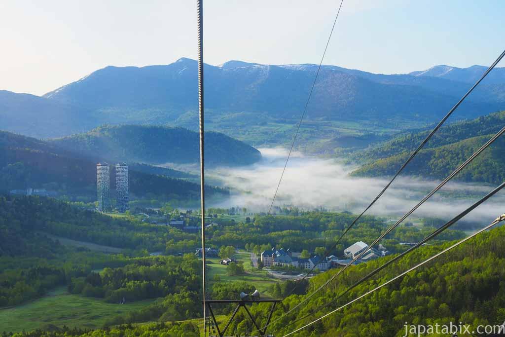 星野リゾートトマム 雲海テラス ゴンドラからの眺め
