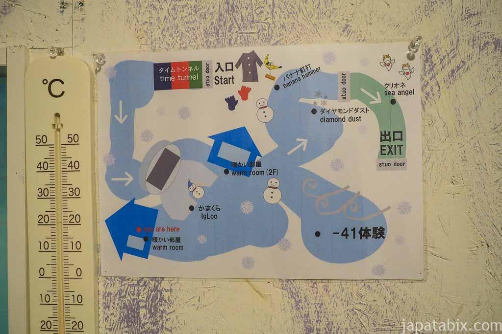 氷の美術館 北海道アイスパビリオン 館内マップ