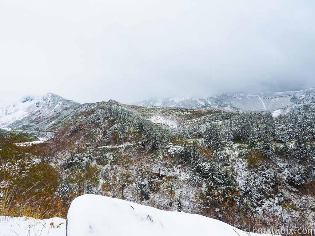 北海道 上富良野町 十勝岳温泉の景観