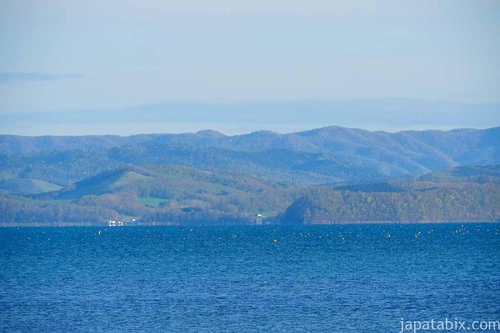龍宮台展望台から見るサロマ湖