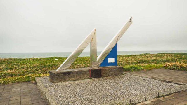 北海道 幌延町 北緯45度通過点 モニュメント