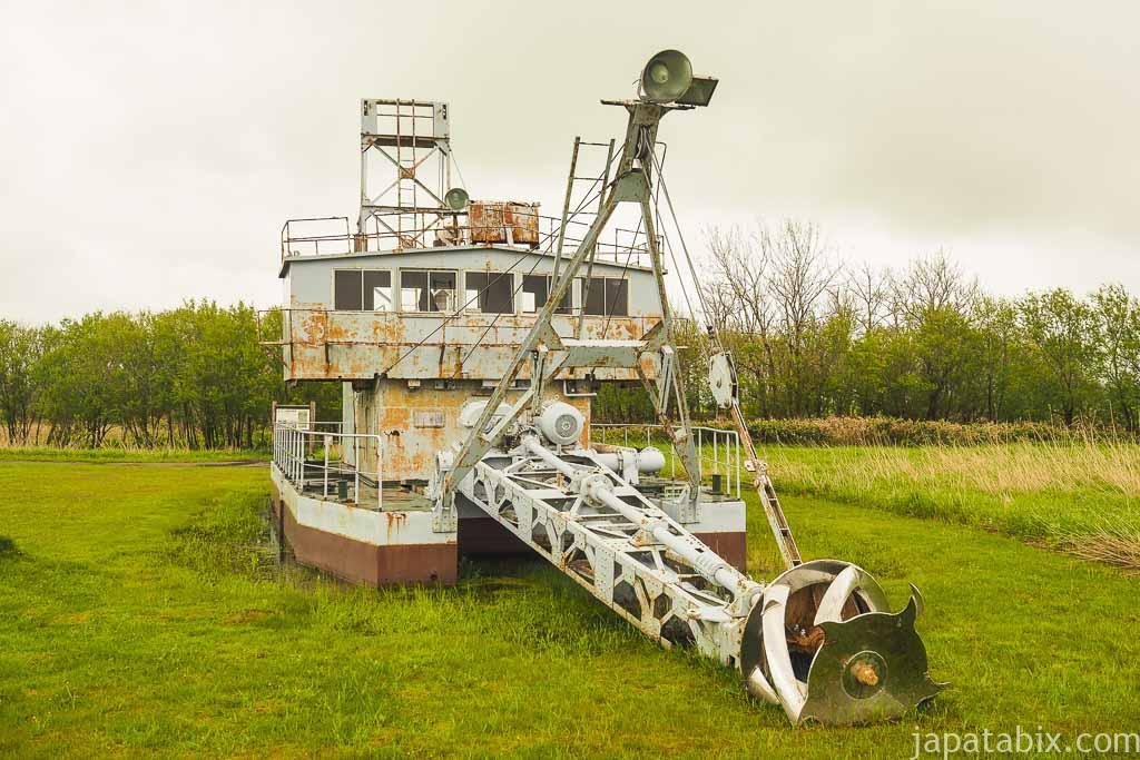 豊富町 サロベツ湿原 浚渫船