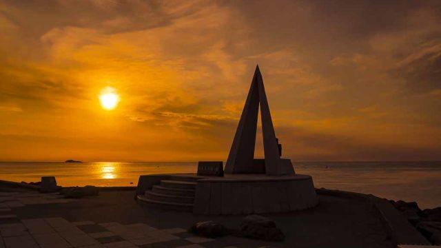 稚内 宗谷岬の夕暮れ