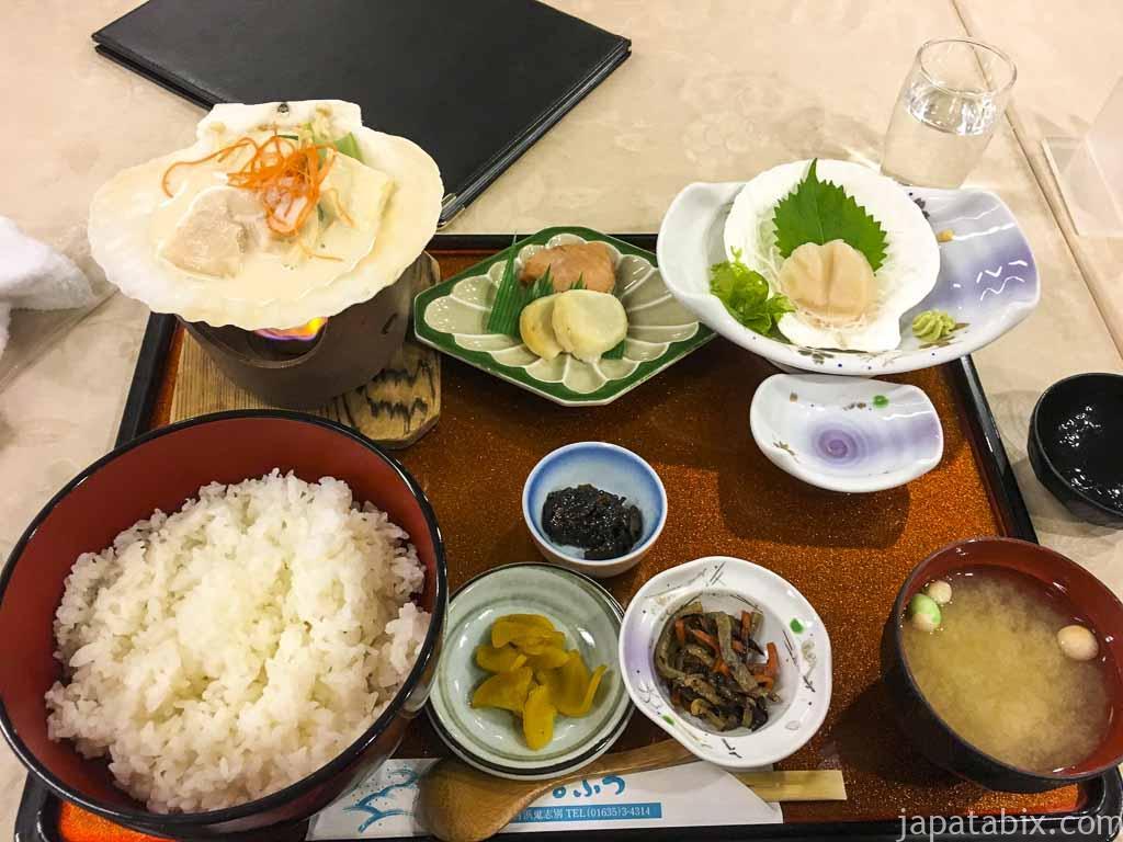 猿払村 レストラン風雪 帆立いっぱいの さるふつ定食