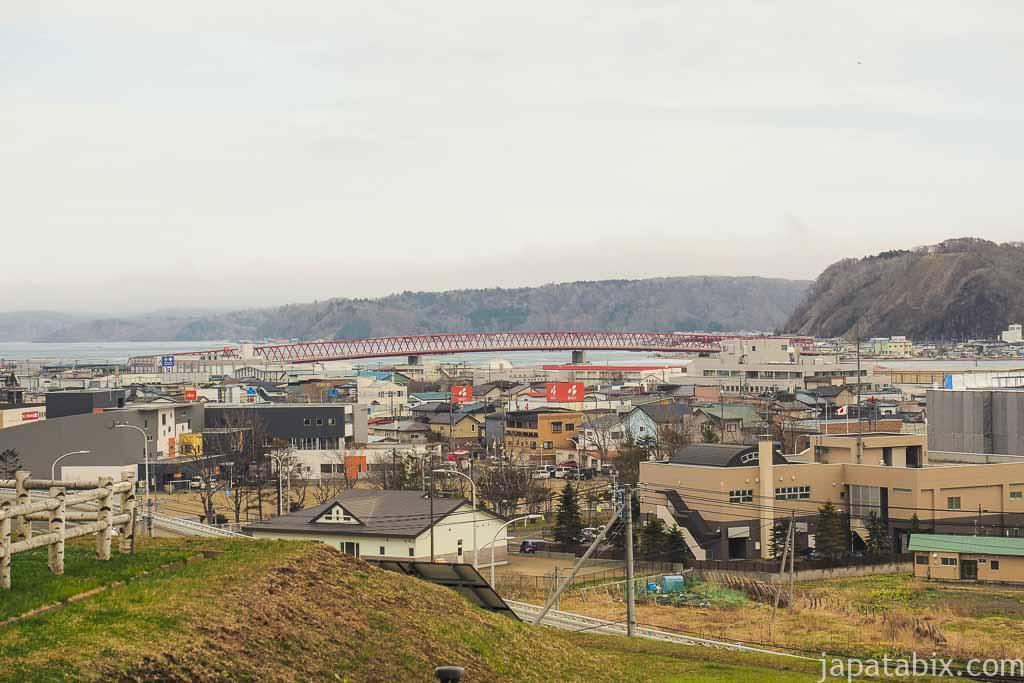 道の駅 厚岸グルメパークからの眺め 厚岸大橋と厚岸湖