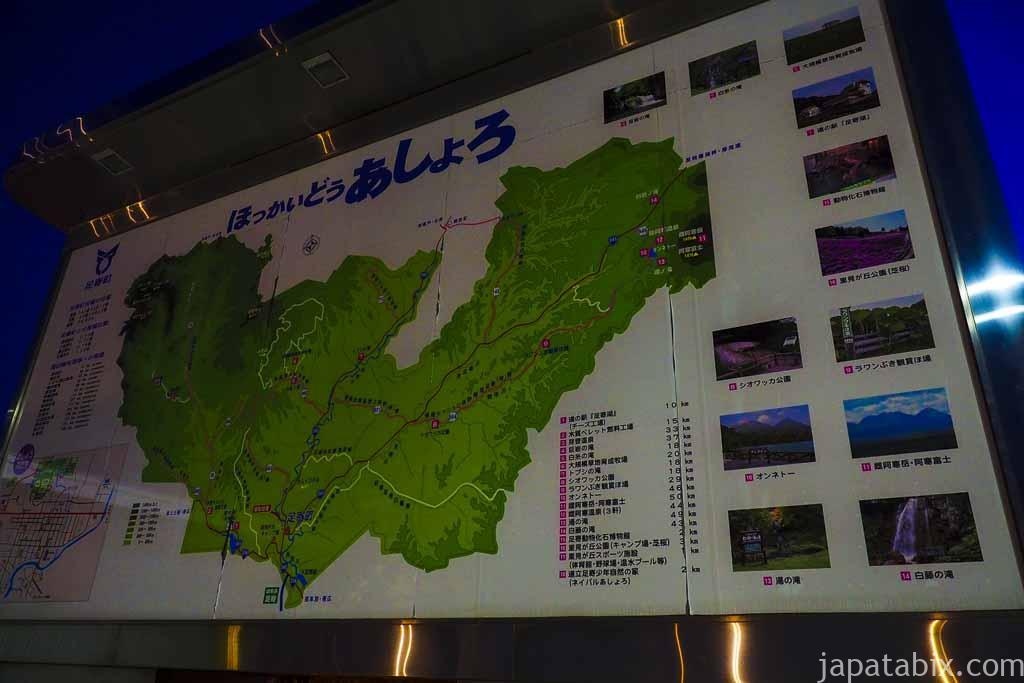 北海道足寄町 マップ