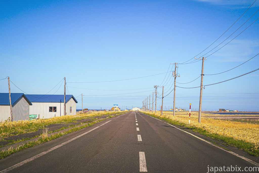 道道950号線 野付風連公園線を走る