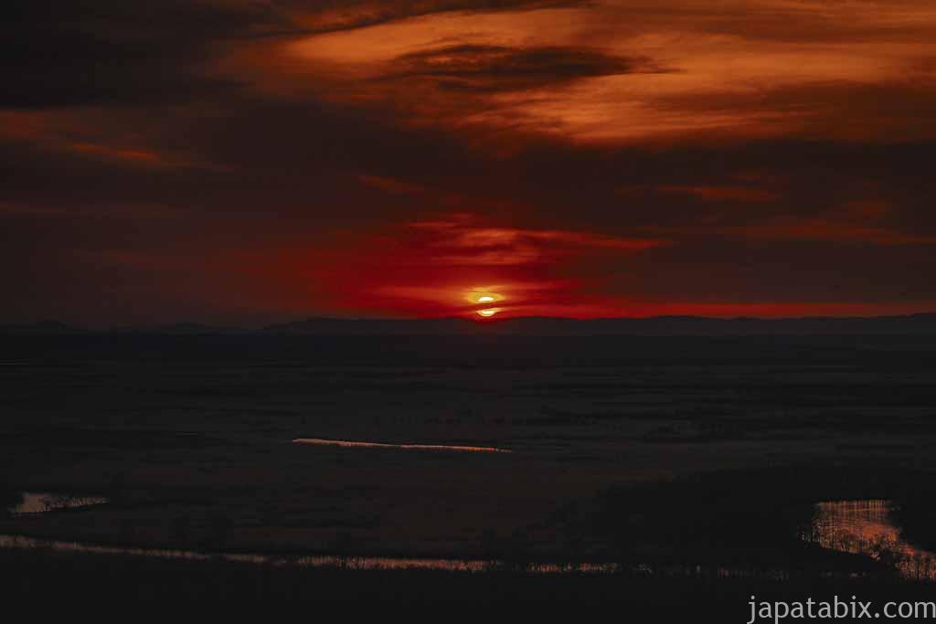 釧路湿原の夕暮れ
